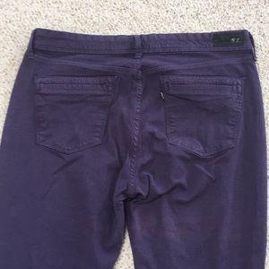 Levi purple leggings size 32